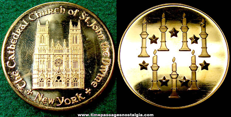 Old New York Cathedral Church of St. John The Divine Souvenir Medal Coin