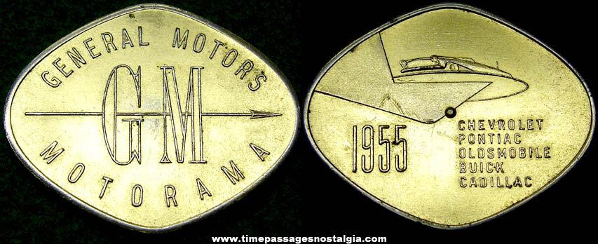 1955 General Motors Motorama Advertising Token Coin Spinner