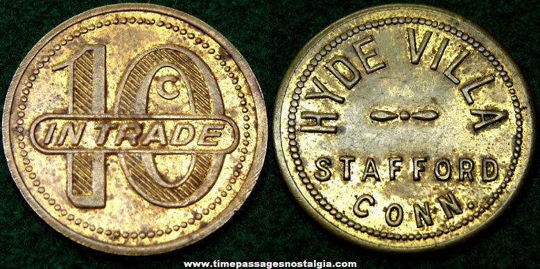 Old Hyde Villa Advertising Good For 10c Token Coin