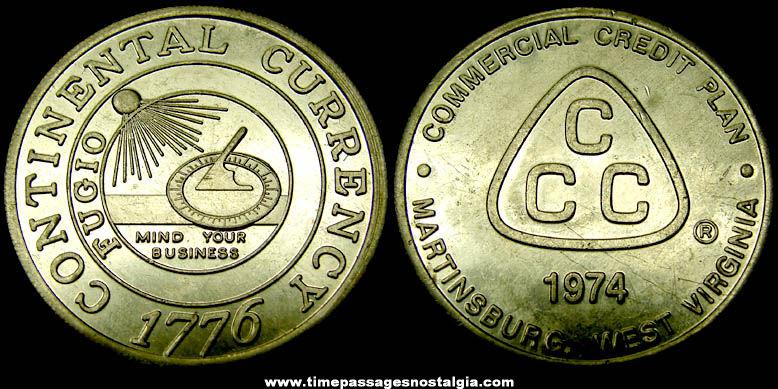 1974 Bank Credit Company Advertising Premium Token Coin