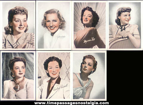 Old Envelope With (7) Television & Movie Star Actress Color Prints