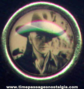 Old Unused Metal Hopalong Cassidy Cowboy Character Toy Picture Ring