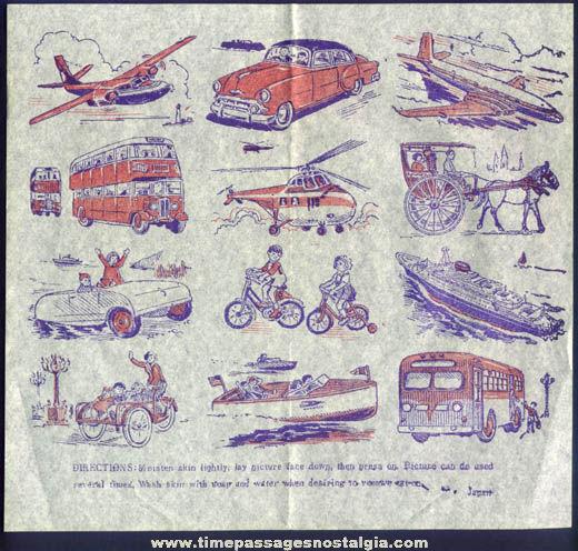 Old Unused Transportation Vehicle Tattoo Sheet
