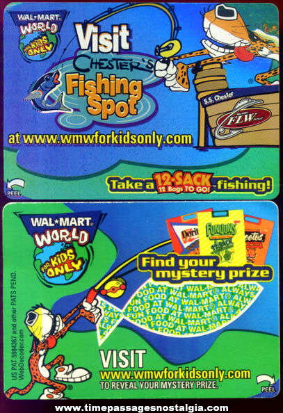 (10) Unused Frito Lay Walmart Advertising Contest Cards
