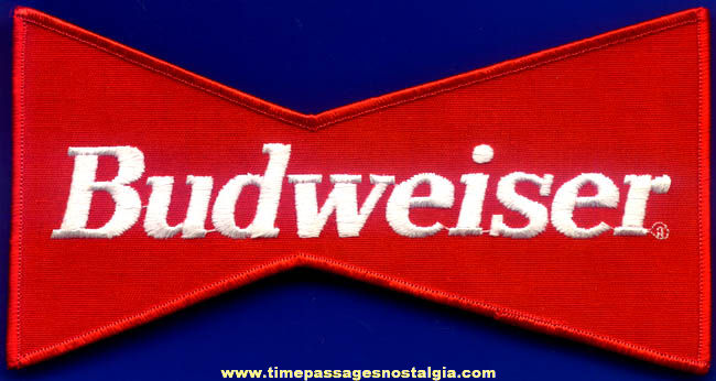 Old Unused Budweiser Beer Employee Jacket Advertising Cloth Patch