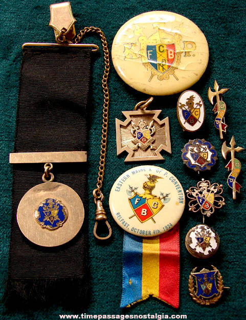 (11) Small Old Knights of Pythias Fraternal Items
