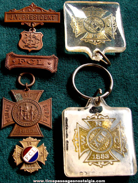(6) Small Old Womans Relief Corps Items