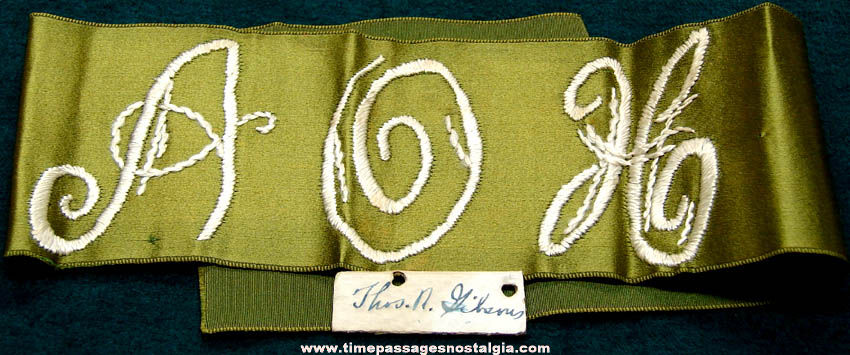Old Ancient Order of Hibernia Embroidered Arm Band