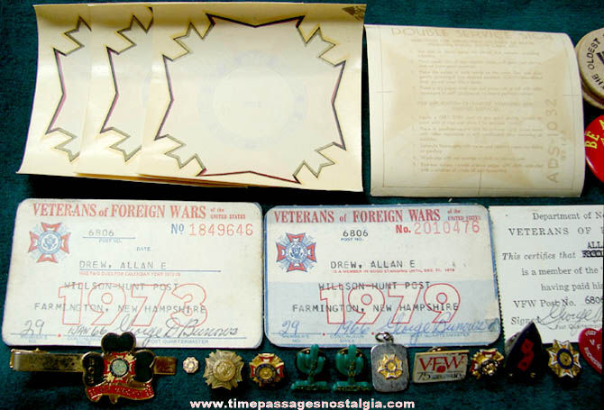 (36) Small Old Veterans of Foreign Wars Veteran Fraternal Items