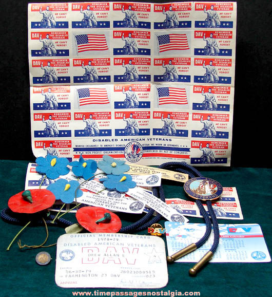 (51) Small Old Disabled American Veterans Items