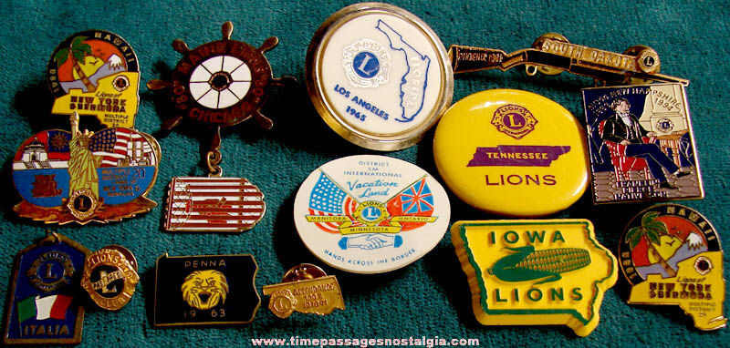 (14) Old Lions Clubs International Advertising Pins