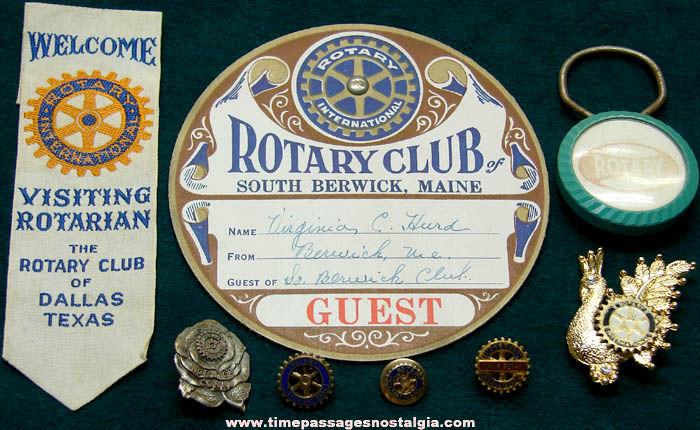 (8) Small Old Rotary Club International Items