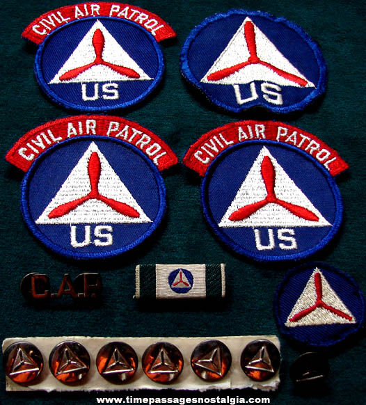 (14) 1940s United States Civil Air Patrol Uniform Items