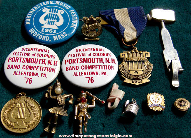 (13) Old School Band Music Related Items