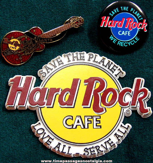 (3) Different Hard Rock Cafe Advertising Items
