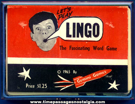Unopened Boxed ©1965 Lingo Word Card Game