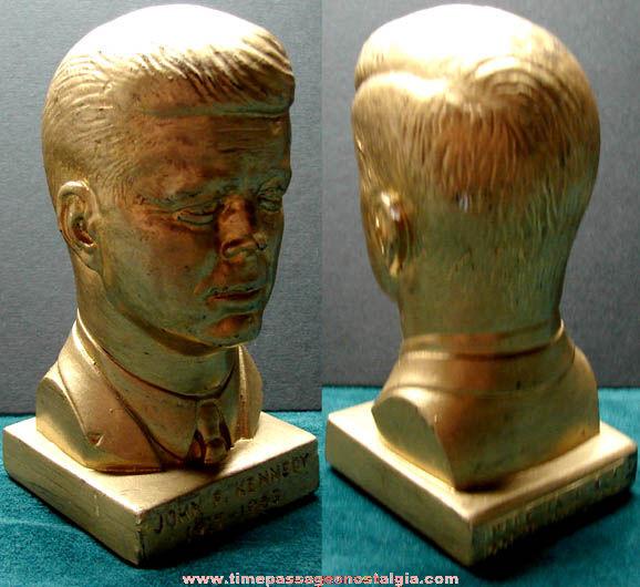 Small ©1964 President John F. Kennedy Statue Bust