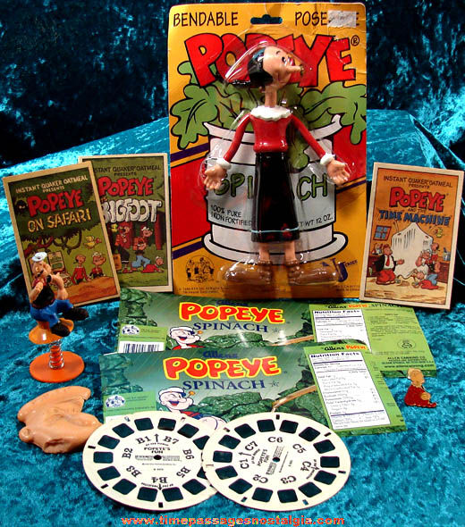 (11) Old Popeye The Sailor Cartoon Character Items
