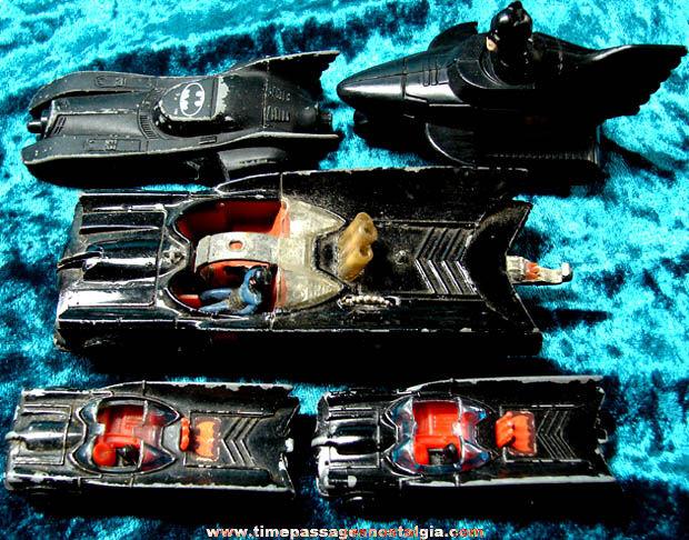(5) Old Batman Batmobile Toy Vehicles