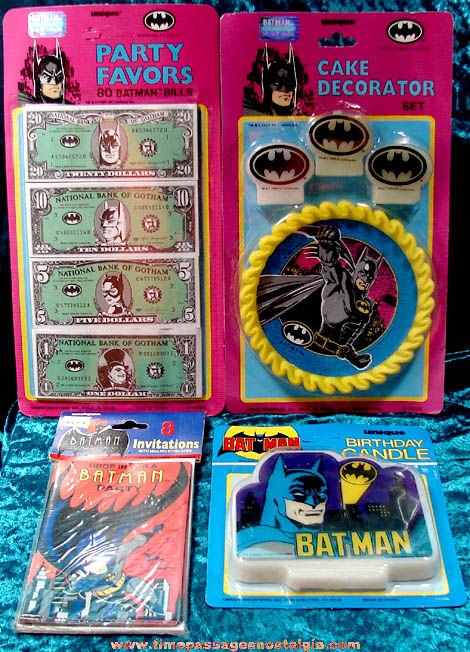(4) Unopened Batman Character Birthday Party Items