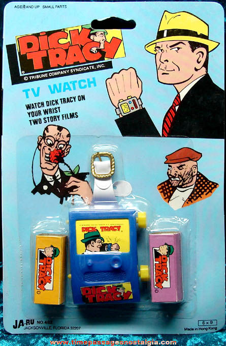 Unopened �1973 Dick Tracy Character TV Watch with Story Films