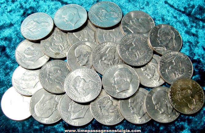 (25) United States Eisenhower Dollar Coins