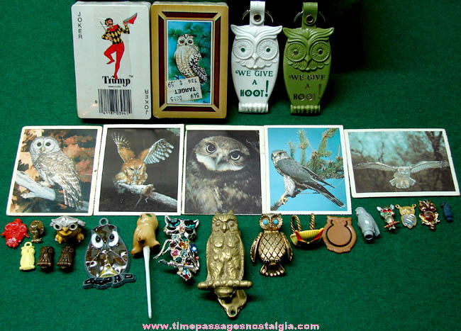 (27) Small Old Owl Bird Related Items