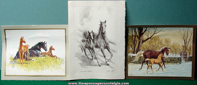 (3) Old Suffolk Downs President Christmas Greeting Cards