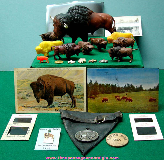 (26) Small Old American Buffalo or Bison Related Items