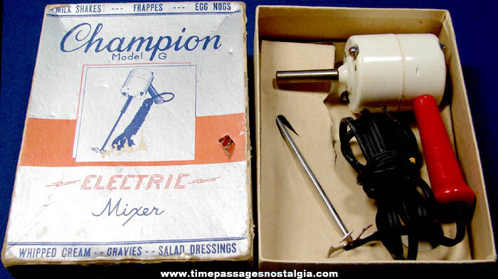 Old Boxed Heinze Electric Company Electric Mixer