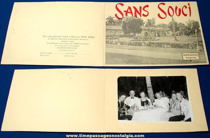 Old Sans Souci Havana Cuba Advertising Souvenir Photograph Folder