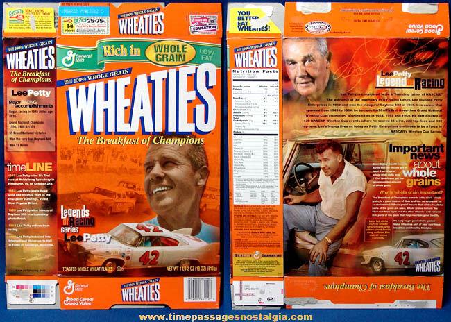 Legends of Racing Lee Petty Wheaties Cereal Box