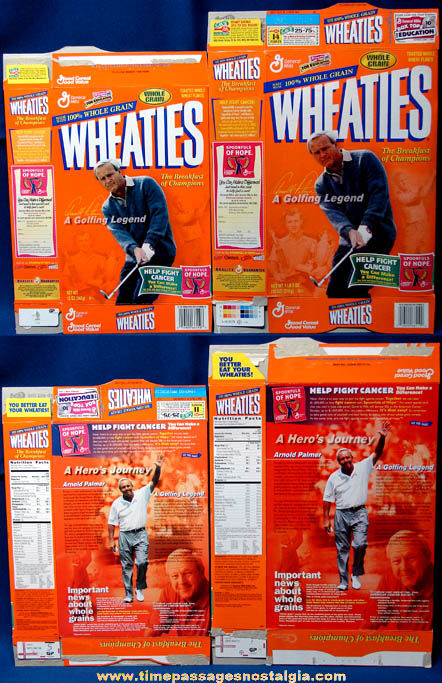 (2) ©1999 Arnold Palmer Golf Legend Wheaties Cereal Boxes