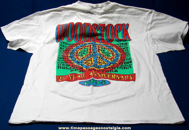 Colorful 1994 Woodstock 25th Anniversary Advertising T-Shirt