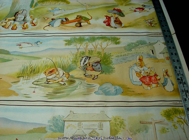 (3) Large & Colorful �1952 Beatrix Potter Character Prints
