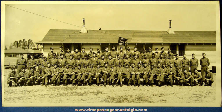 Large 1944 World War II Camp Blanding Florida Photograph