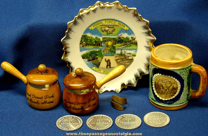 (9) Old Animal Forest Park York Beach Maine Advertisng Souvenir Items