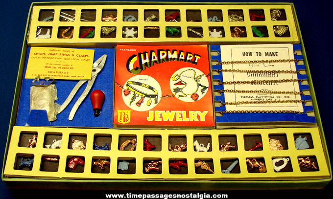 Unused & Complete ©1951 Peerless Charmart Toy Jewelry Making Kit