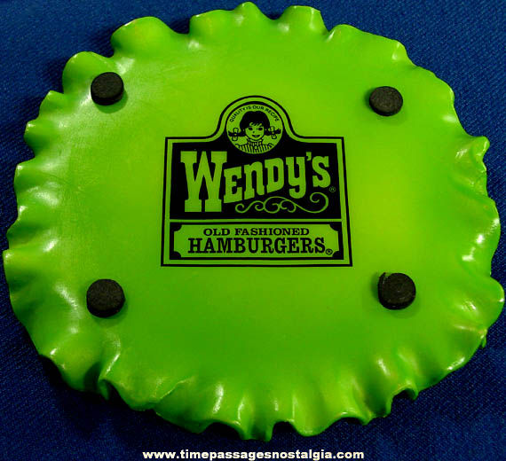 Colorful Old Wendy's Restaurant Hamburger Advertising Drink Coaster Set