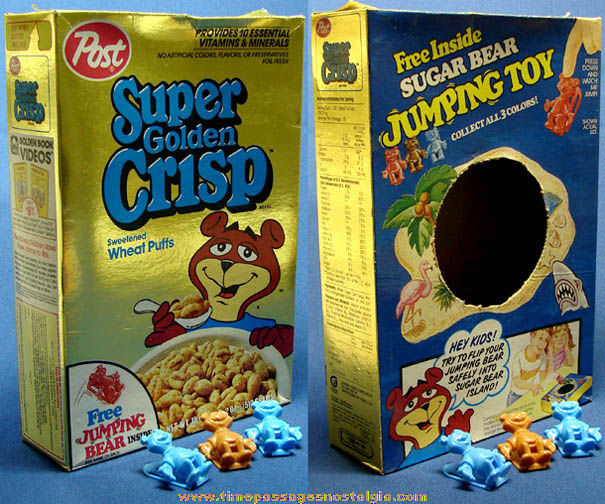 Weu0027re guessing that Sugar Bear becomes jumpy because he just ate a bowl of cereal thatu0027s about 50% sugar.  sc 1 st  Guff & 20 Classic Cereal Box Prizes - Super Sugar Crisp Jackson 5 Record ... Aboutintivar.Com