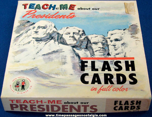�1962 Boxed Teach Me About Our Presidents Flash Card Set