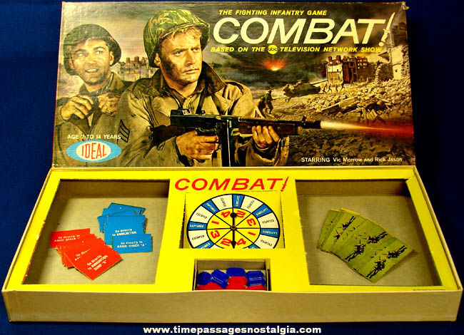 ©1963 Combat! U.S. Military Television Show Board Game
