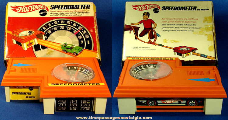 ©1969 Boxed Mattel Hot Wheels Track Car Speedometer