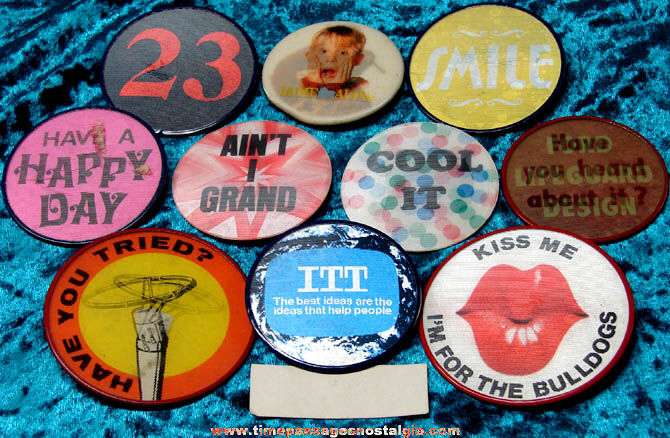 (10) Different Colorful Flicker Pin Back Buttons