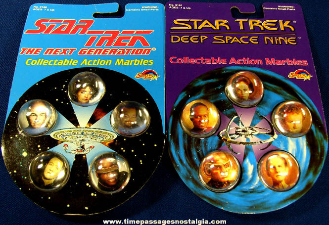 (2) Unopened Sets of ©1993 Star Trek Character Marbles