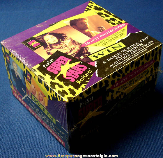 Unopened ©1991 Case Box of ProSet Super Stars First Series Music Cards