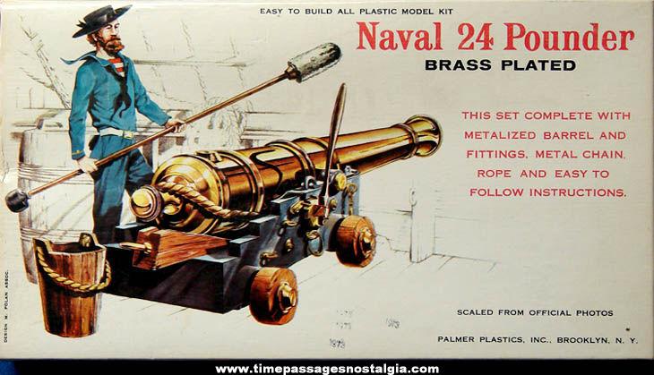 Old Boxed Naval 24 Pounder Cannon Palmer Plastics Model Kit