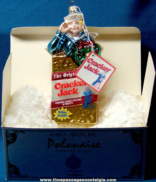 Artist Signed & Boxed ©1999 Cracker Jack Advertising Polonaise Christmas Ornament