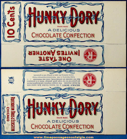 Rare Old Unused Reliable Confections Hunky Dory Cracker Jack Box