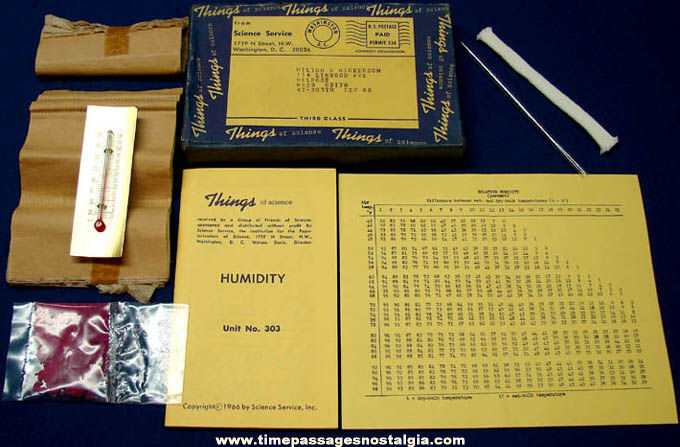 ©1966 #303 Humidity Science Service Things of Science Kit